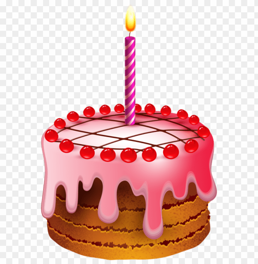 Free PNG Birthday Cake With Candle Transparent Images