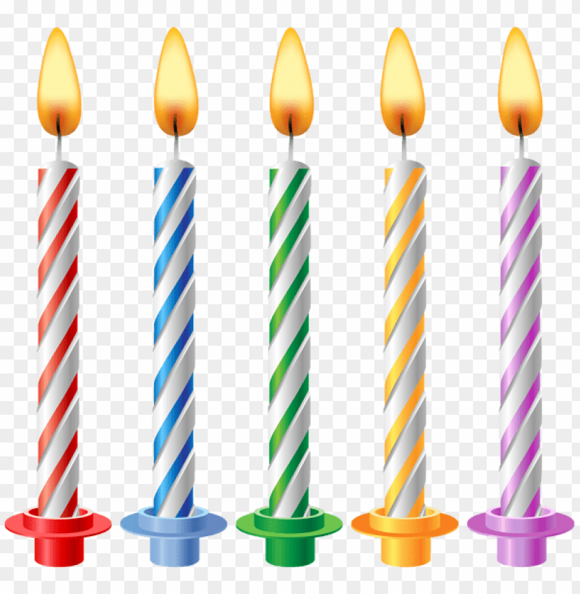 Free PNG Birthday Candles Transparent Images