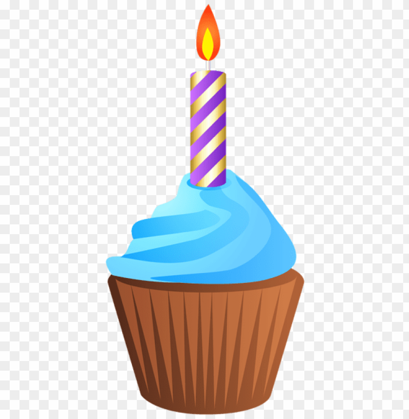 Birthday Muffin With Candle Transparent Png Free Png Images Toppng