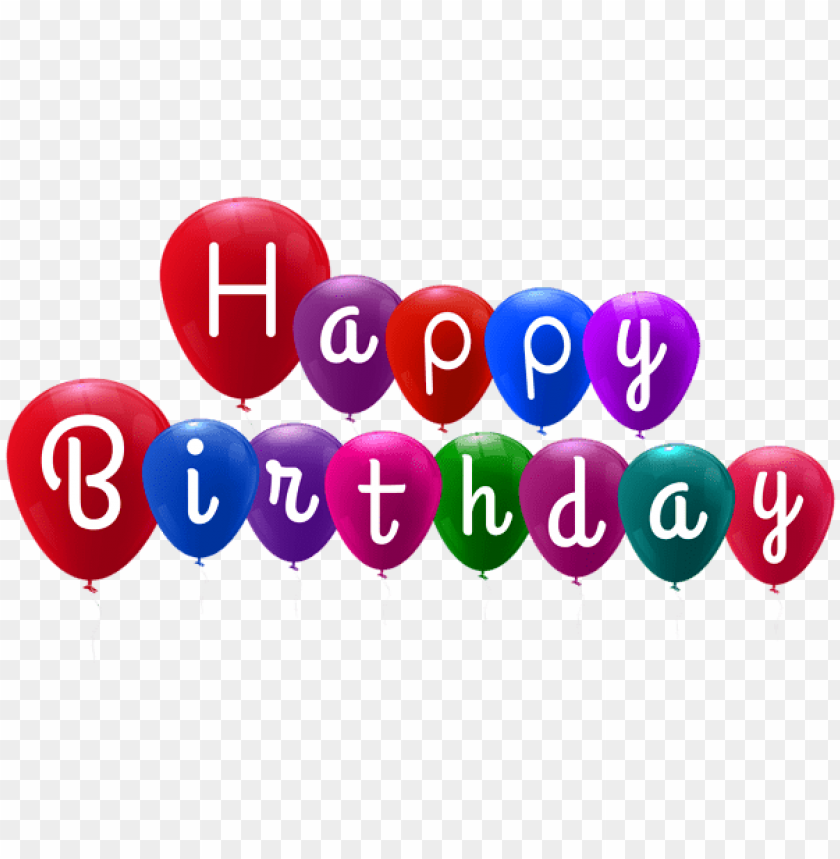 Free PNG Happy Birthday Balloons Png Images Transparent