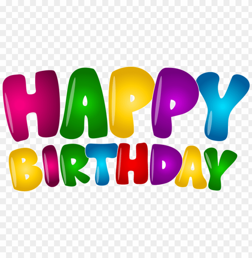 Free PNG Happy Birthday Colorful Text Png Images Transparent
