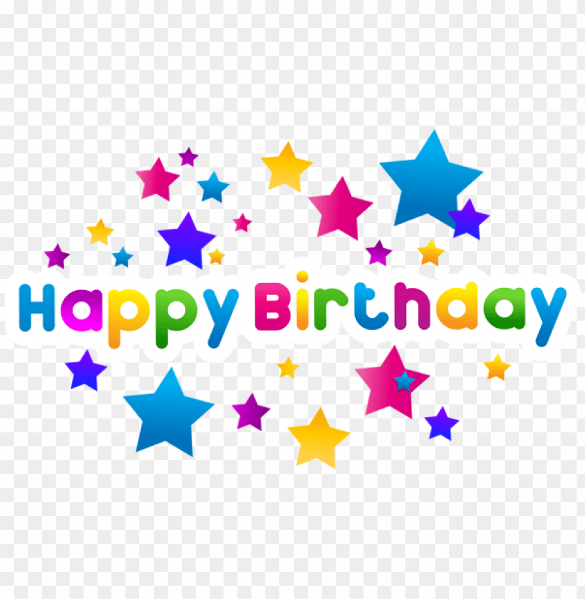 Happy Birthday Text Decor Png Free Png Images Toppng