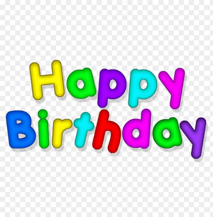 Free PNG Happy Birthday Transparent Multlor Images