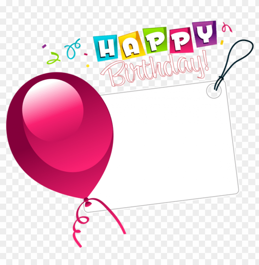 Free PNG Happy Birthday Transparent Sticker With Pink Balloon Images