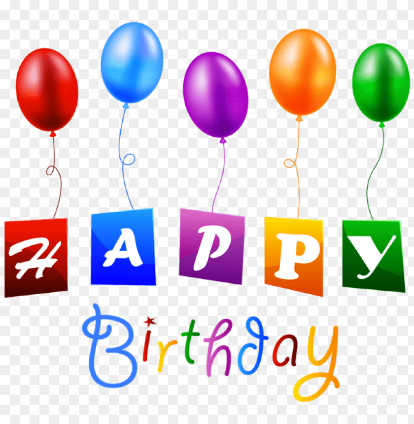 Free PNG Happy Birthday With Balloons Images Transparent