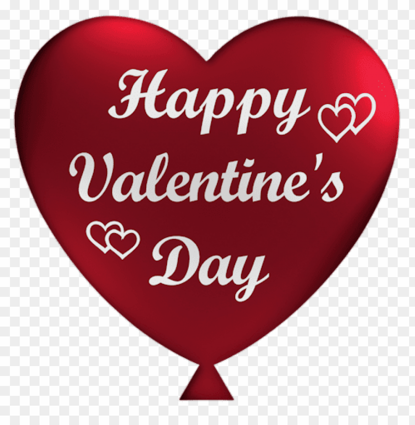 Free PNG Happy Valentine Heart Balloon Images Transparent