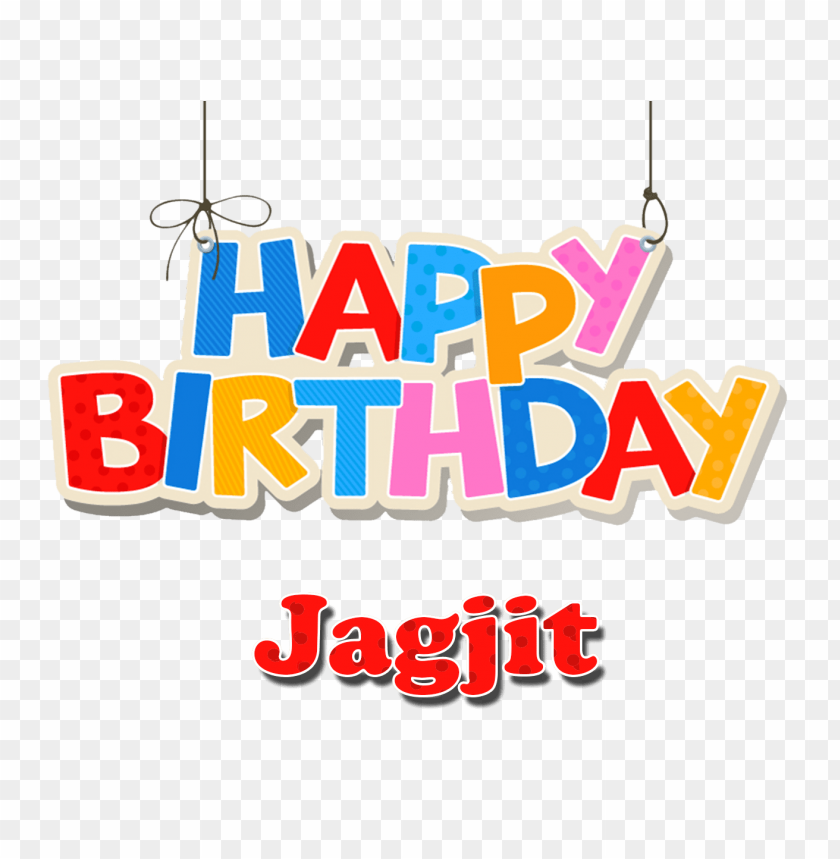 Jagjit Happy Birthday Balloons Name Png