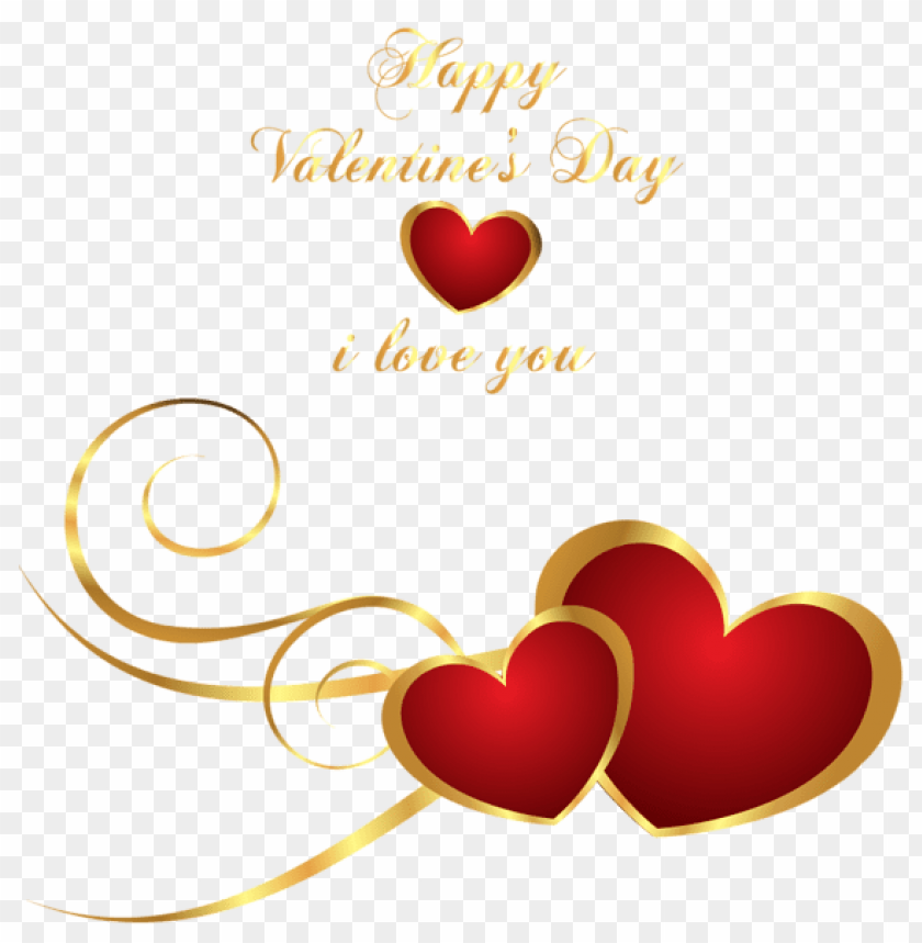 Transparent Happy Valentines Day Decor With Hearts Png Free Png